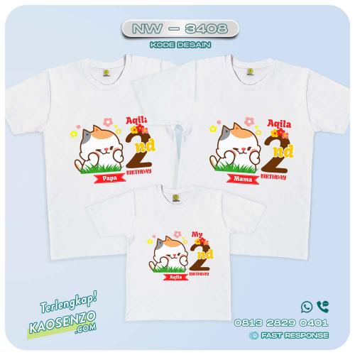 Baju Kaos Couple Keluarga | Kaos Family Custom Emoji-Stiker Tonton NW 3408