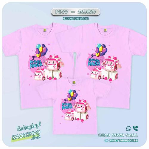 Kaos Couple Keluarga | Kaos Ulang Tahun Anak | Kaos Robocar Poli - NW 2860
