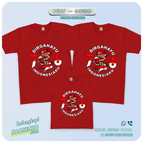 Baju Kaos Couple Keluarga Kemerdekaan | Kaos Family Custom | Kaos Kemerdekaan - NW 3539