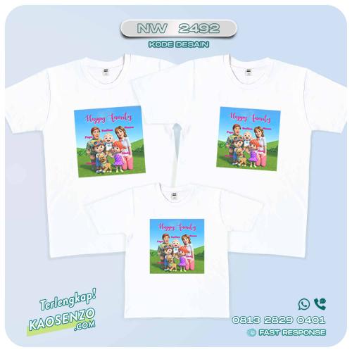 Baju Kaos Couple Keluarga Cocomelon | Kaos Ultah Anak | Kaos Cocomelon - NW 2429
