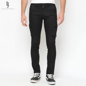 Black Long Cargo Pants