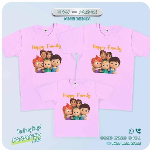 Kaos Couple Keluarga Cocomelon | Kaos Ultah Anak | Kaos Cocomelon - NW 2494