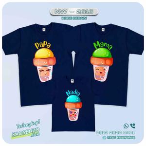 Baju Kaos Couple Keluarga Ice Cream | Kaos Family Custom | Kaos Ice Cream - NW 2616