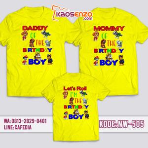 Kaos Couple Keluarga | Kaos Ulang Tahun Anak Paw Patrol - NW 505
