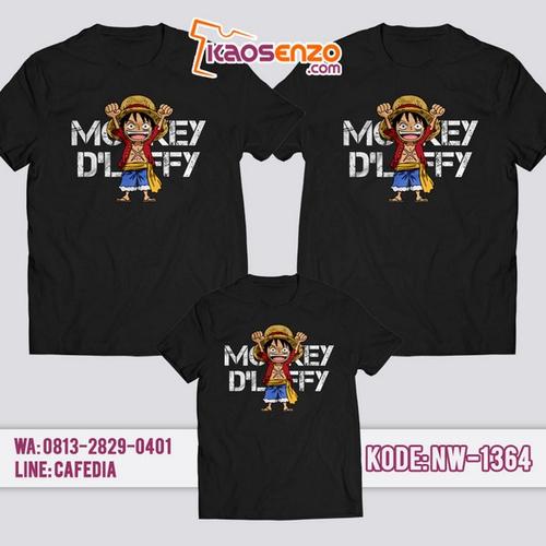 Baju Kaos Couple Keluarga One Piece | Kaos Family Custom | Kaos One Piece - NW 1364