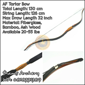 AF Tar-Tar Bow Black Fiberglass Carbon Core DW 45 lbs