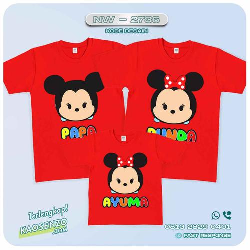 Baju Kaos Couple Keluarga Tsum Tsum | Kaos Family Custom | Kaos Tsum Tsum - NW 2736