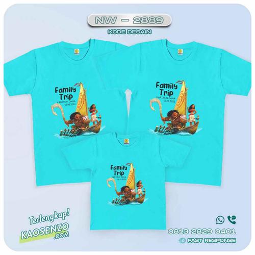 Kaos Couple Keluarga | Kaos Ulang Tahun Anak Moana - NW 2889