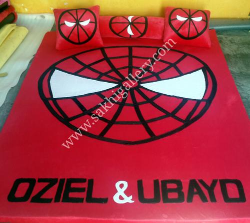 Karpet gambar kepala spiderman