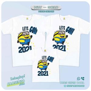 Baju Kaos Couple Keluarga Minion | Kaos Family Custom | Kaos Minion - NW 3010