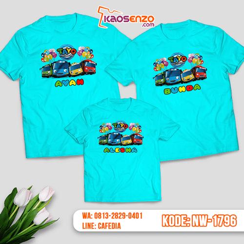 Baju Kaos Couple Keluarga Tayo | Kaos Family Custom | Kaos Tayo - NW 1796