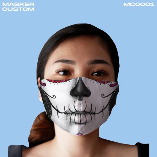 Masker Scuba Duckbill Full Print | Edisi Mimik Wajah