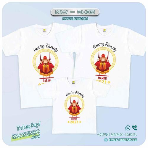 Baju Kaos Couple Keluarga Imlek | Kaos Family Custom | Kaos Imlek - NW 3035