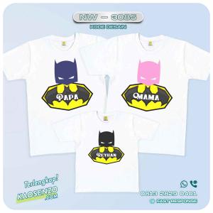 Baju Kaos Couple Keluarga Batman | Kaos Ultah Anak | Kaos Batman - NW 3085