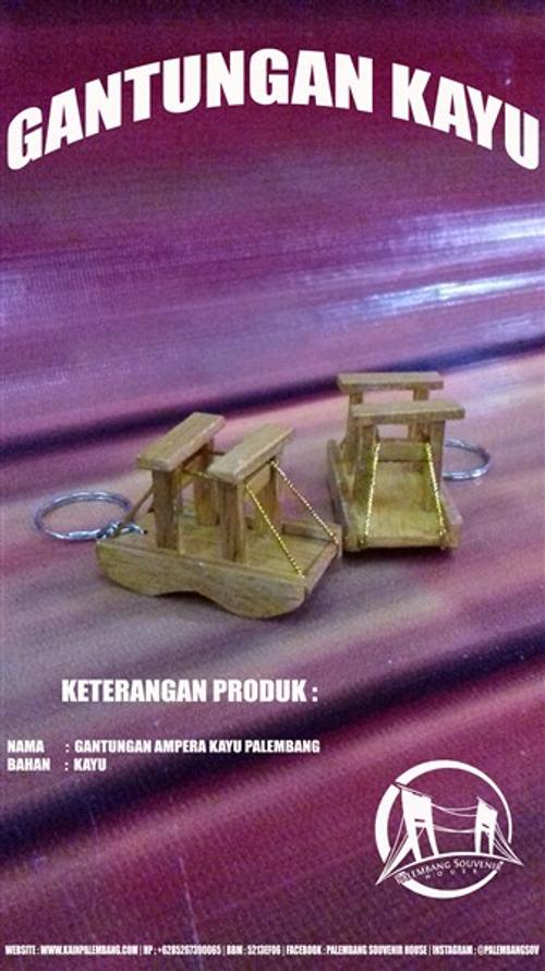 Gantungan Kunci Miniatur Jembatan Ampera