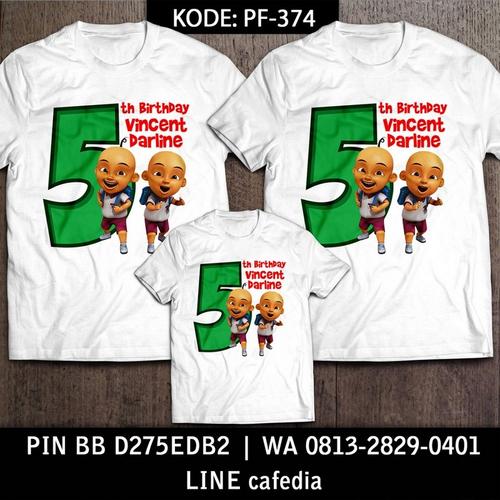 Kaos Couple Keluarga | Kaos Ulang Tahun Anak Upin Ipin - PF 374