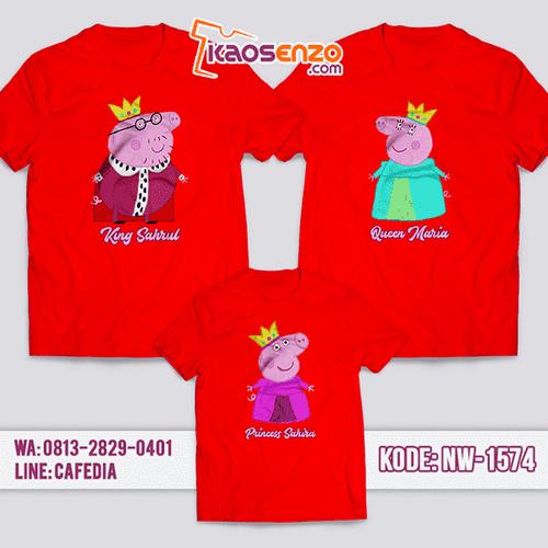 Baju Kaos Couple Keluarga Peppa Pig | Kaos Family Custom | Kaos Peppa Pig - NW 1574