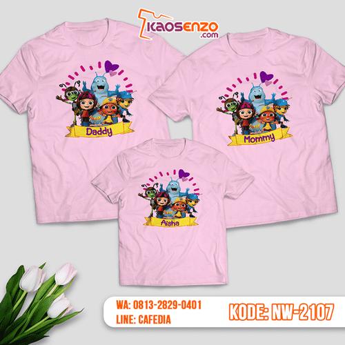 Baju Kaos Couple Keluarga Beat Bugs | Kaos Family Custom | Kaos Beat Bugs - NW 2107