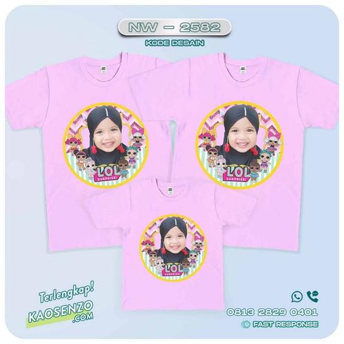 Baju Kaos Couple Keluarga LOL Doll | Kaos Family Custom | Kaos LOL Doll - NW 2582