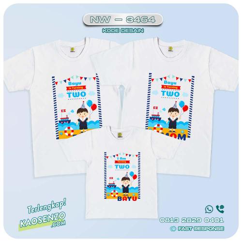 Baju Kaos Couple Keluarga Sailor | Kaos Family Custom | Kaos Sailor - NW 3464