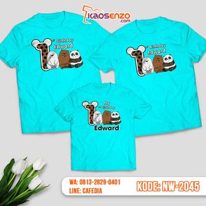 Kaos Couple Keluarga Bare Bears   Kaos Ulang Tahun Anak   Kaos Bare Bears - NW 2045