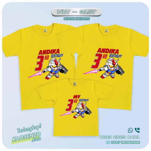 Kaos Couple Keluarga | Kaos Ulang Tahun Anak | Kaos Gundam - NW 3157