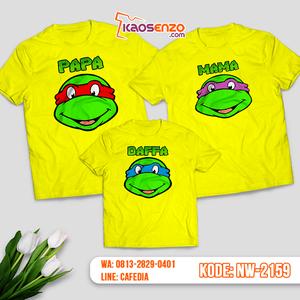 Baju Kaos Couple Keluarga Ninja Turtles | Kaos Family Custom | Kaos Ninja Turtles - NW 2159