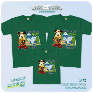 Baju Kaos Couple Keluarga Mickey Minnie Mouse | Kaos Family Custom | Kaos Mickey Minnie Mouse - NW 3063