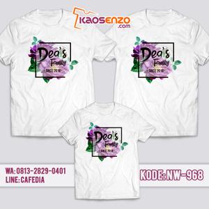 Baju Kaos Couple Keluarga | Kaos Family Custom Bunga Floral - NW 968