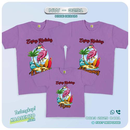 Baju Kaos Couple Keluarga Flamingo | Kaos Ultah Anak | Kaos Flamingo - NW 3291