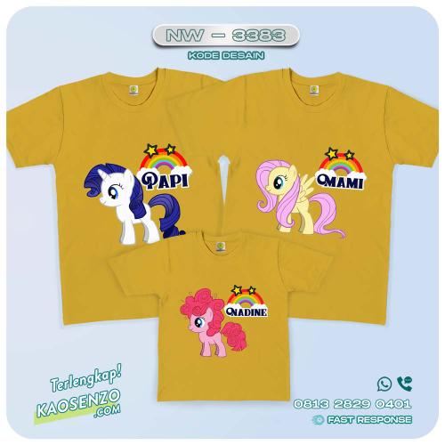 Baju Kaos Couple Keluarga Little Pony   Kaos Family Custom   Kaos Little Pony - NW 3383
