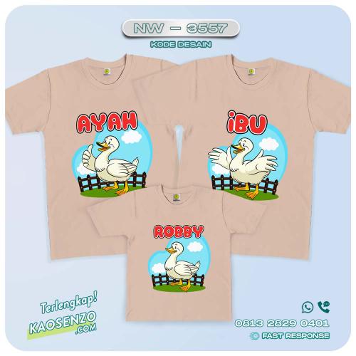 Baju Kaos Couple Keluarga Duck   Kaos Family Custom   Kaos Duck - NW 3557