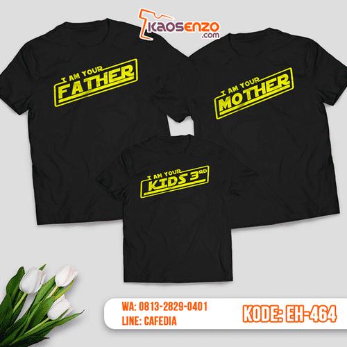 Baju Kaos Couple Keluarga | Kaos Family Custom Motif Star Wars - EH 464