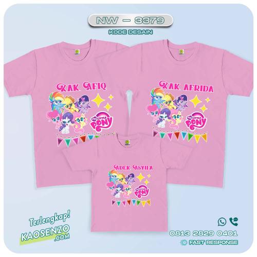 Baju Kaos Couple Keluarga Little Pony   Kaos Family Custom   Kaos Little Pony - NW 3379