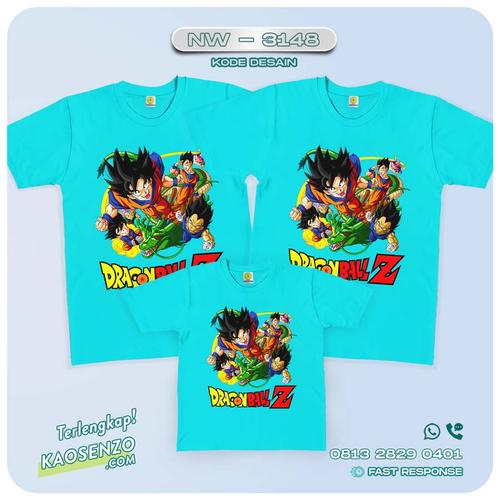 Baju Kaos Couple Keluarga Dragon Ball | Kaos Family Custom | Kaos Dragon Ball - NW 3148