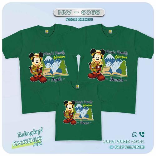 Baju Kaos Couple Keluarga Mickey Minnie Mouse   Kaos Family Custom   Kaos Mickey Minnie Mouse - NW 3063