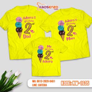 Kaos Couple Keluarga Ice Cream | Kaos Ulang Tahun Anak | Kaos Ice Cream - NW 1635
