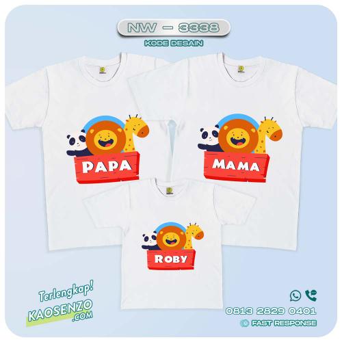 Baju Kaos Couple Keluarga Animal Zoo | Kaos Ultah Anak | Kaos Animal Zoo - NW 3338
