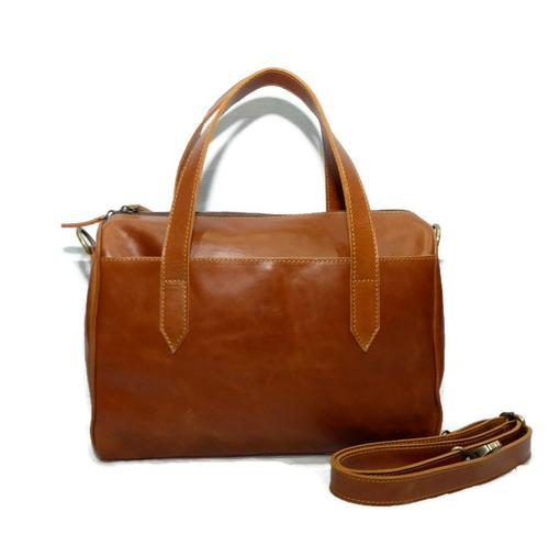 Tas Kulit Asli Wanita Hand Bag + Tali Selempang, Premium Leather Tote Bag - Stella Medium