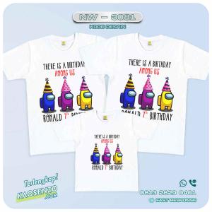 Baju Kaos Couple Keluarga Among Us | Kaos Family Custom | Kaos Among Us - NW 3081