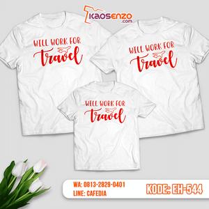 Baju Kaos Couple Keluarga | Kaos Family Custom Motif Travelling - EH 544