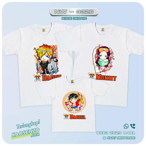 Baju Kaos Couple Keluarga One Piece | Kaos Family Custom | Kaos One Piece - NW 3326