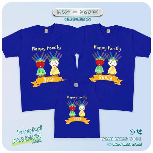 Kaos Couple Keluarga Ondel-Ondel | Kaos Ultah Anak | Kaos Ondel-Ondel - NW 3403
