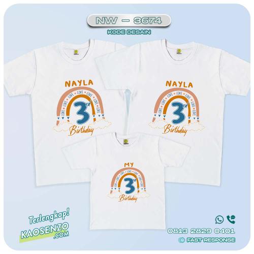 Baju Kaos Couple Keluarga Boho Rainbow   Kaos Family Custom   Kaos Boho Rainbow - NW 3674