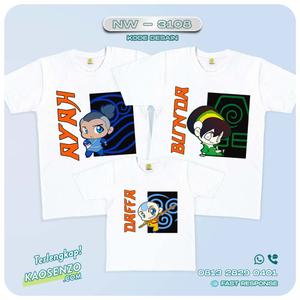 Baju Kaos Couple Keluarga Avatar | Kaos Ultah Anak | Kaos Avatar - NW 3108