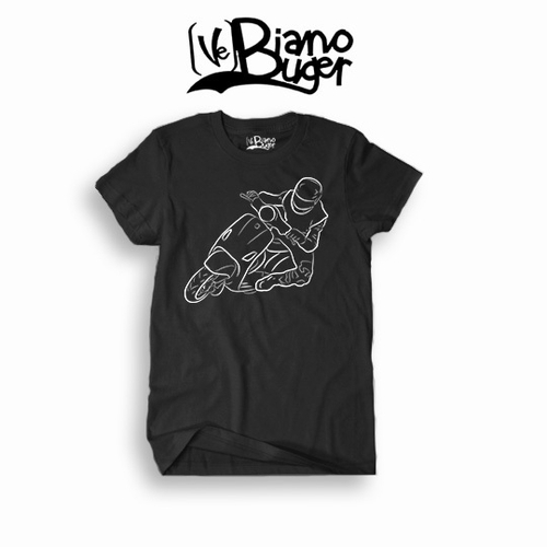 Modern Vespa Racing tees Black