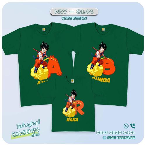 Baju Kaos Couple Keluarga Dragon Ball | Kaos Family Custom | Kaos Dragon Ball - NW 3144