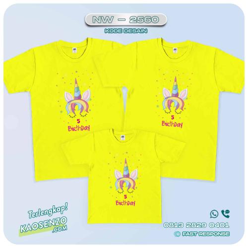 Baju Kaos Couple Keluarga Unicorn | Kaos Family Custom | Kaos Unicorn - NW 2560