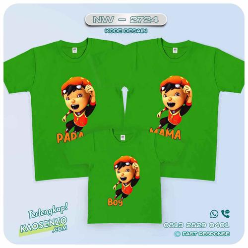 Baju Kaos Couple Keluarga | Kaos Family Custom Boboiboy - NW 2724