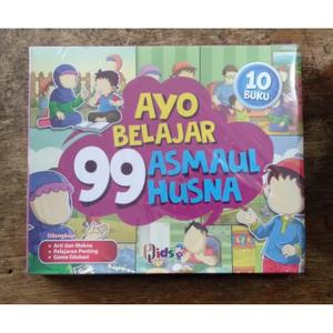Buku Anak Ayo Belajar 99 Asmaul Husna Makna Pelajaran Game Edukasi